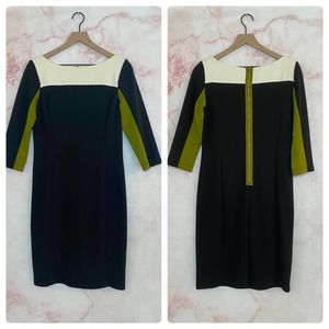 Julian Taylor Colorblock Dress - 8